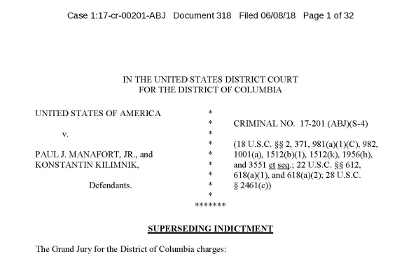 Pages from 20180608 (318) manafort kilimnik superseding indictment 060818