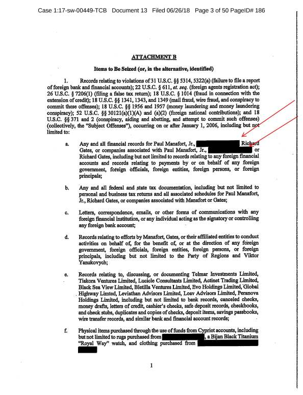 Pages from Unsealed Warrant Application