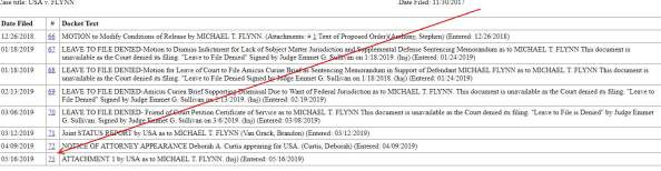 Flynn Docket missing docs